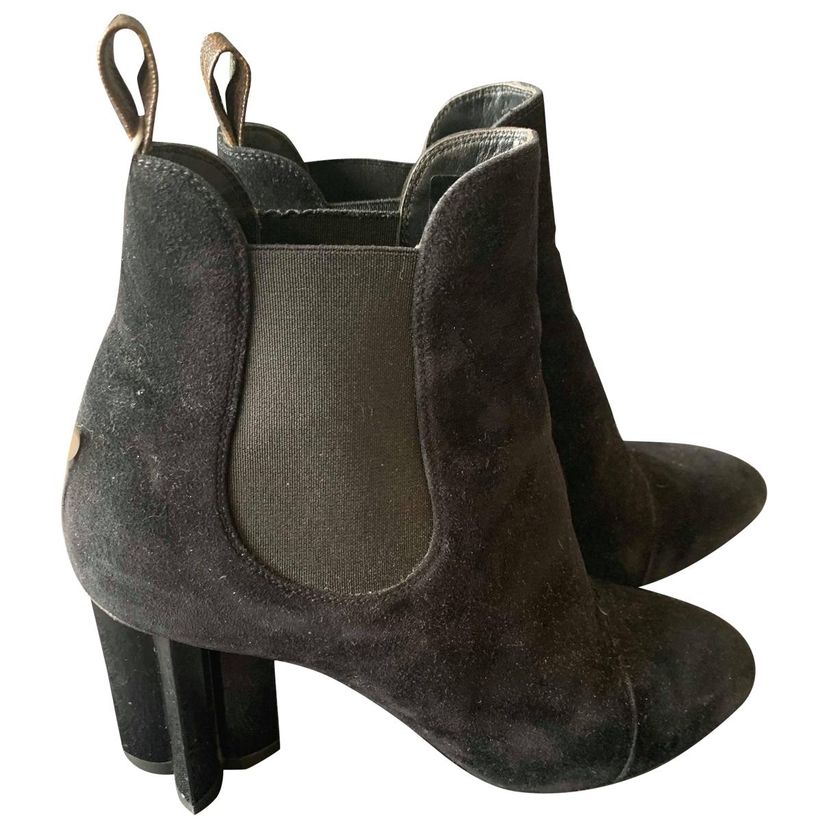 Louis Vuitton - Boots Silhouette pour femme en suede - noir