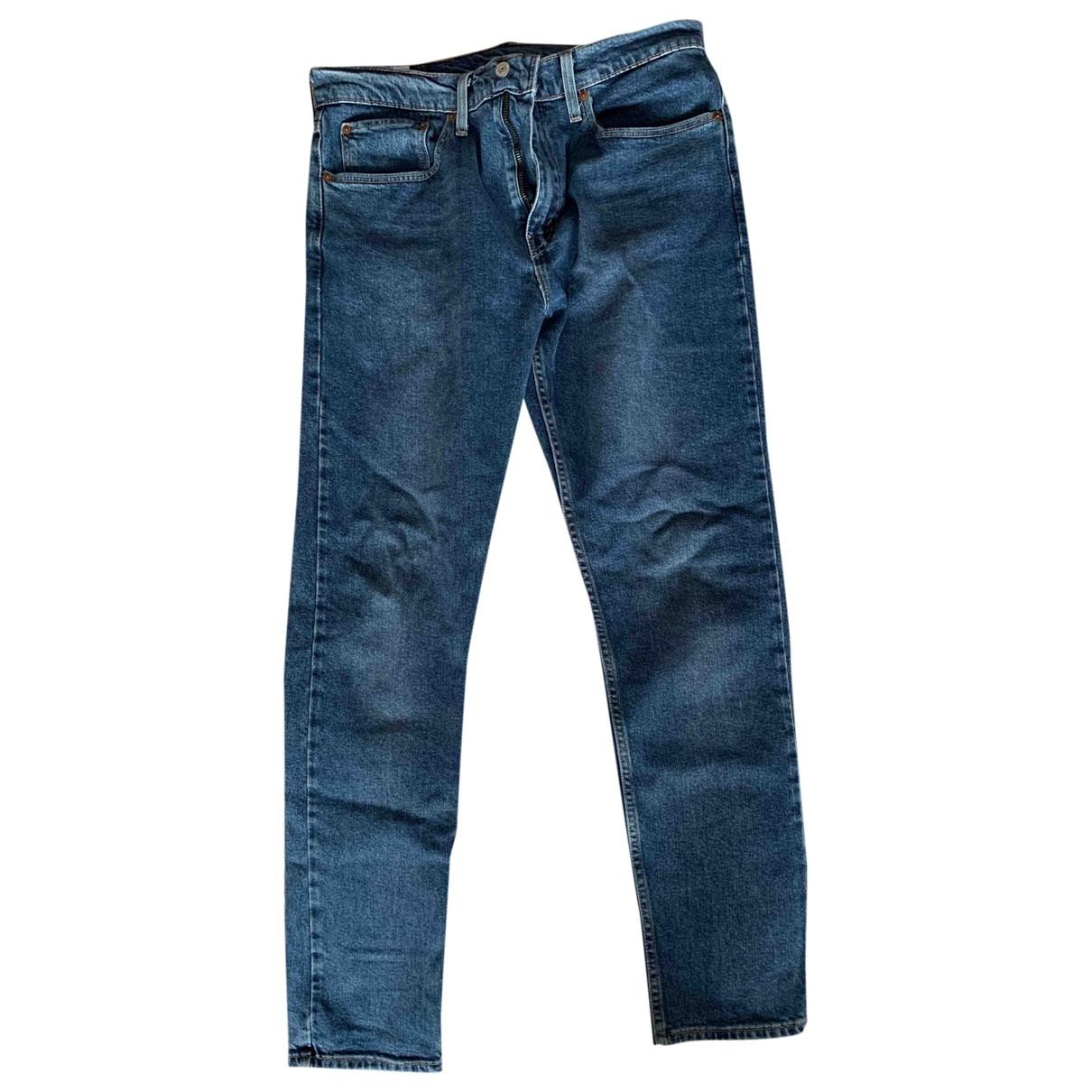 Levi's 512 Blue Cotton Jeans for Men 34 US