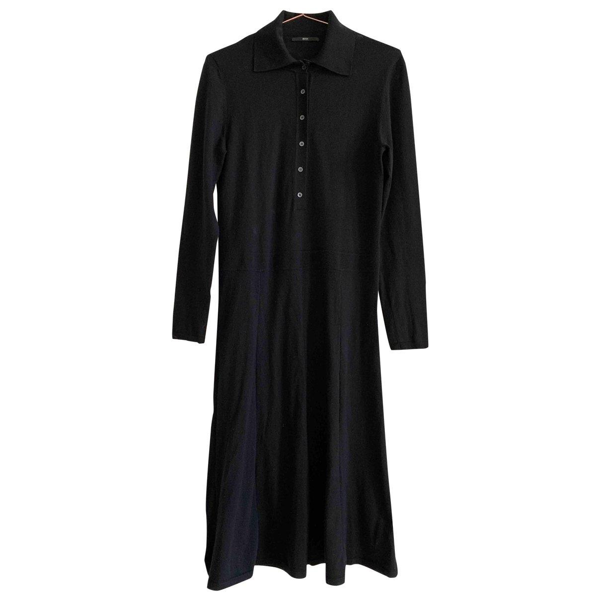 Boss \N Black Wool dress for Women L International