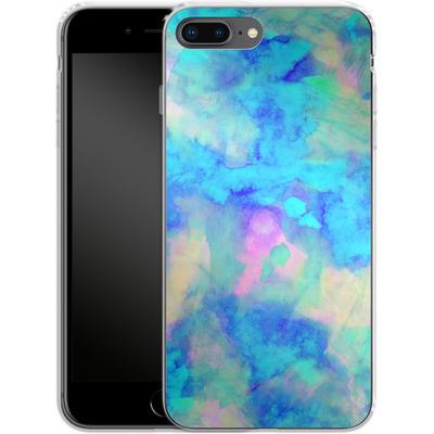 Apple iPhone 8 Plus Silikon Handyhuelle - Electrify Ice Blue von Amy Sia