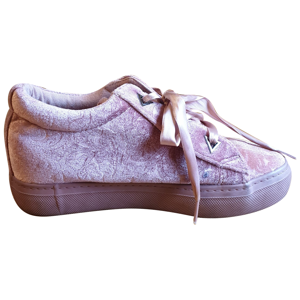 Non Signé / Unsigned N Pink Velvet Trainers for Women 38 EU