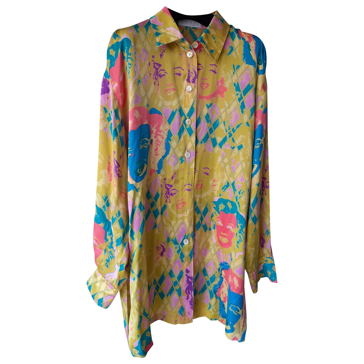 Escada - Top   pour femme en soie - multicolore