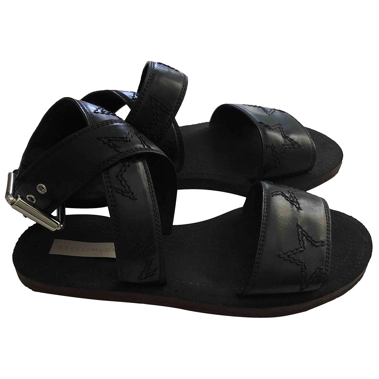 Stella Mccartney \N Black Cloth Sandals for Women 38 EU
