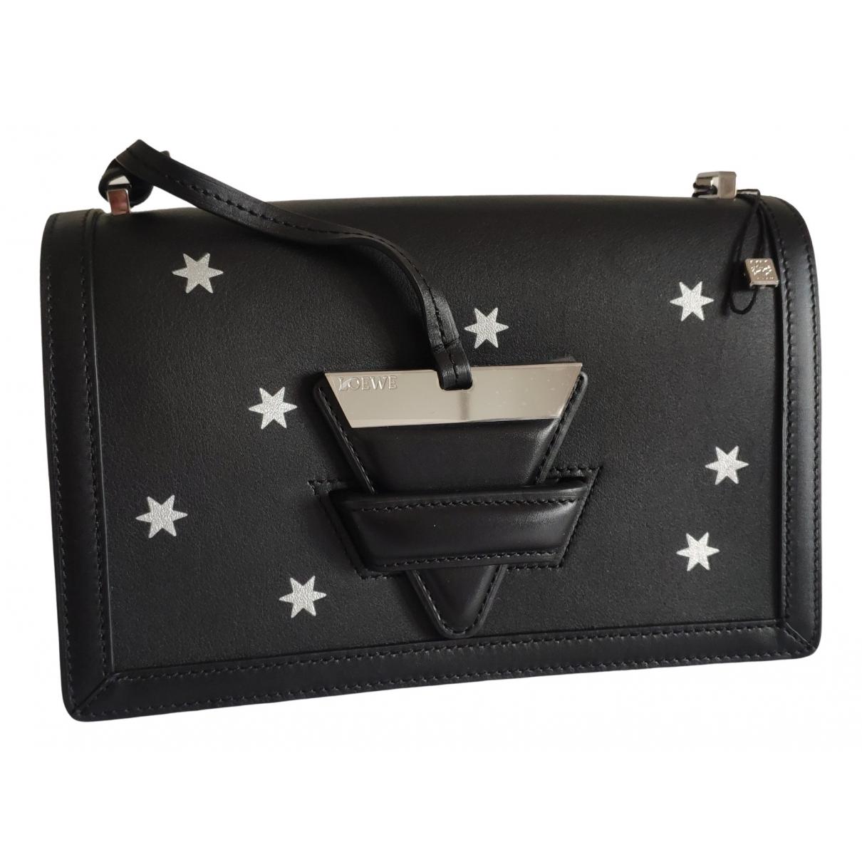 Loewe Barcelona Handtasche in  Schwarz Leder