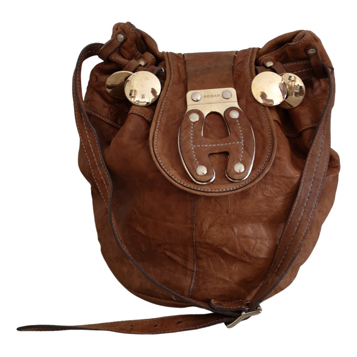 Hogan \N Brown Leather handbag for Women \N