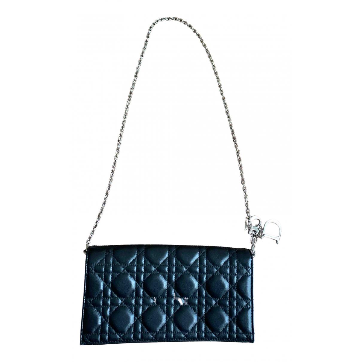 Dior Lady Dior Black Leather handbag for Women \N