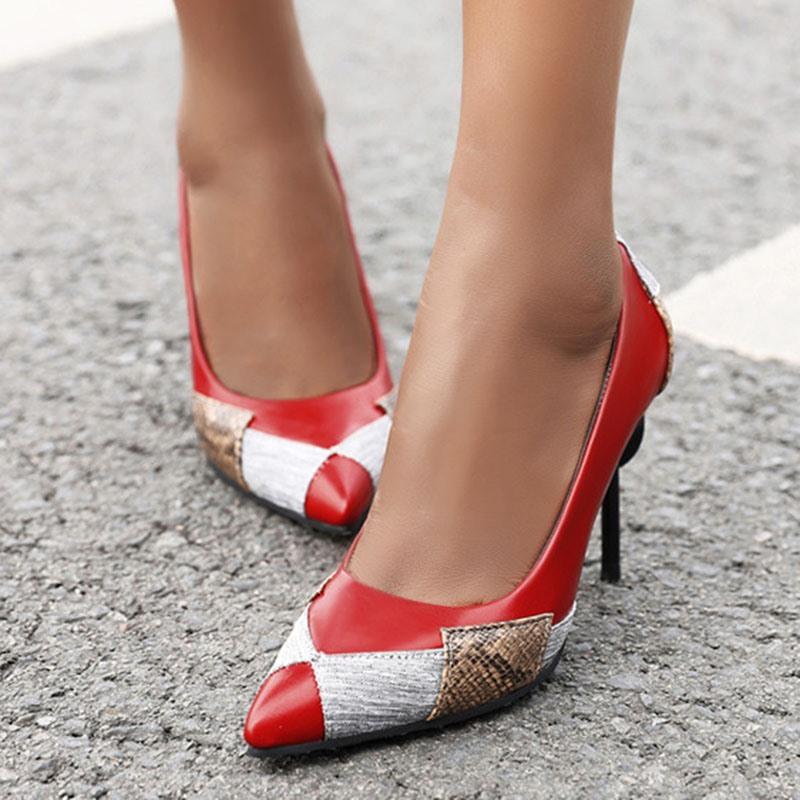 Ericdress Stiletto Heel Slip-On Thread Western Thin Shoes