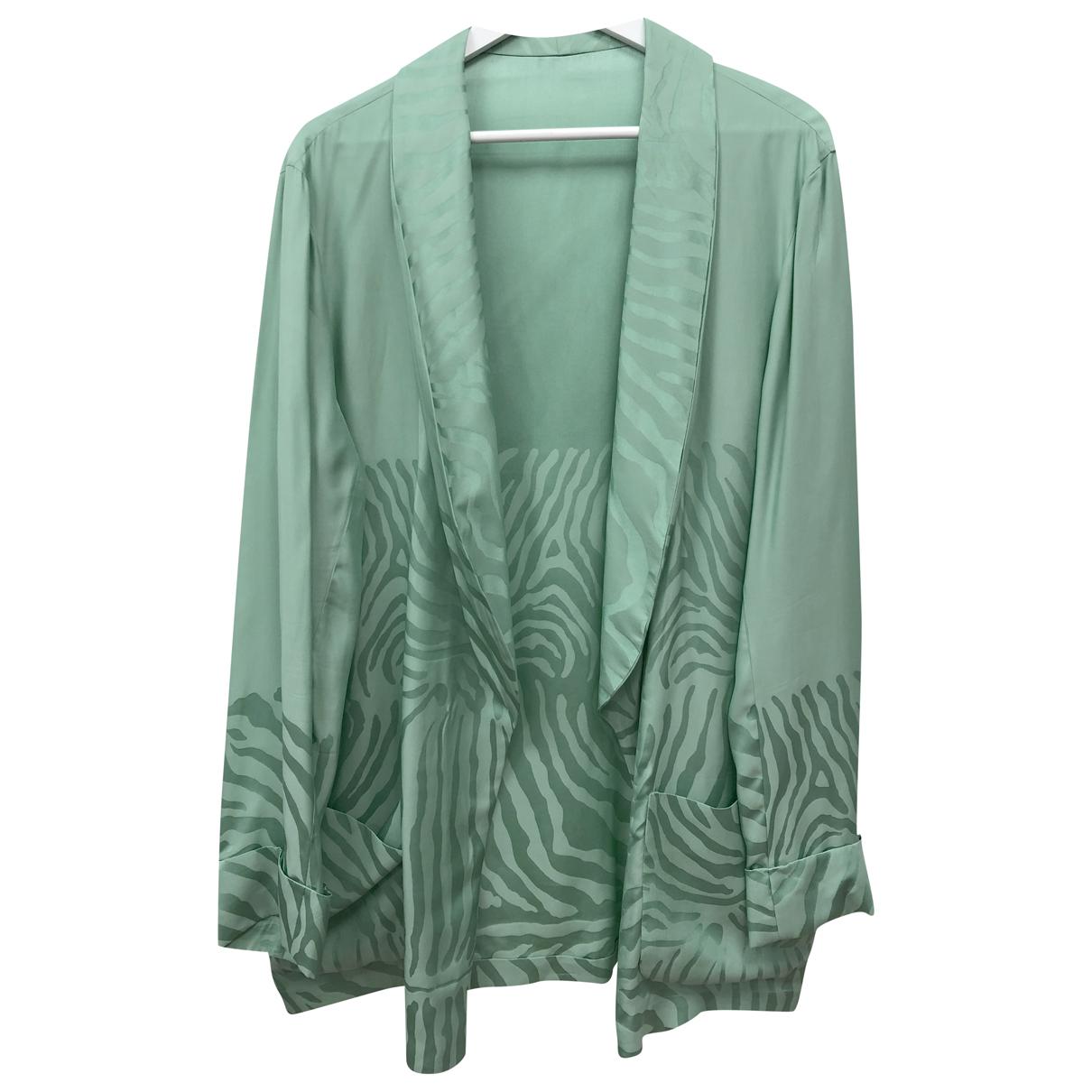 Autre Marque N Turquoise Silk jacket for Women L International