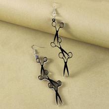 1pair Scissors Drop Earrings