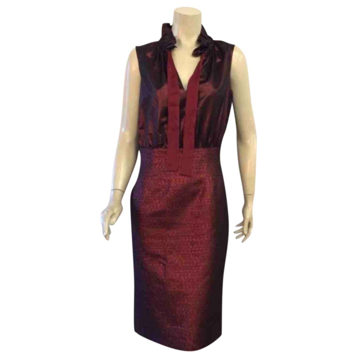 Moschino Cheap And Chic - Robe   pour femme en laine - bordeaux