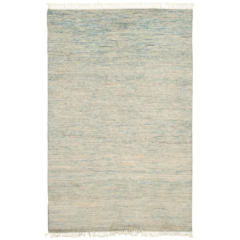 ECARPETGALLERY  Hand-knotted Pak Finest Gabbeh Blue  Wool Rug - 5'0 x 7'8 (Light Blue - 5'0 x 7'8)
