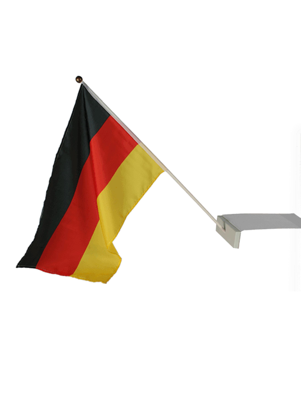 Flagge Deutschland 30x46cm am Stab Farbe: schwarz/rot/gold