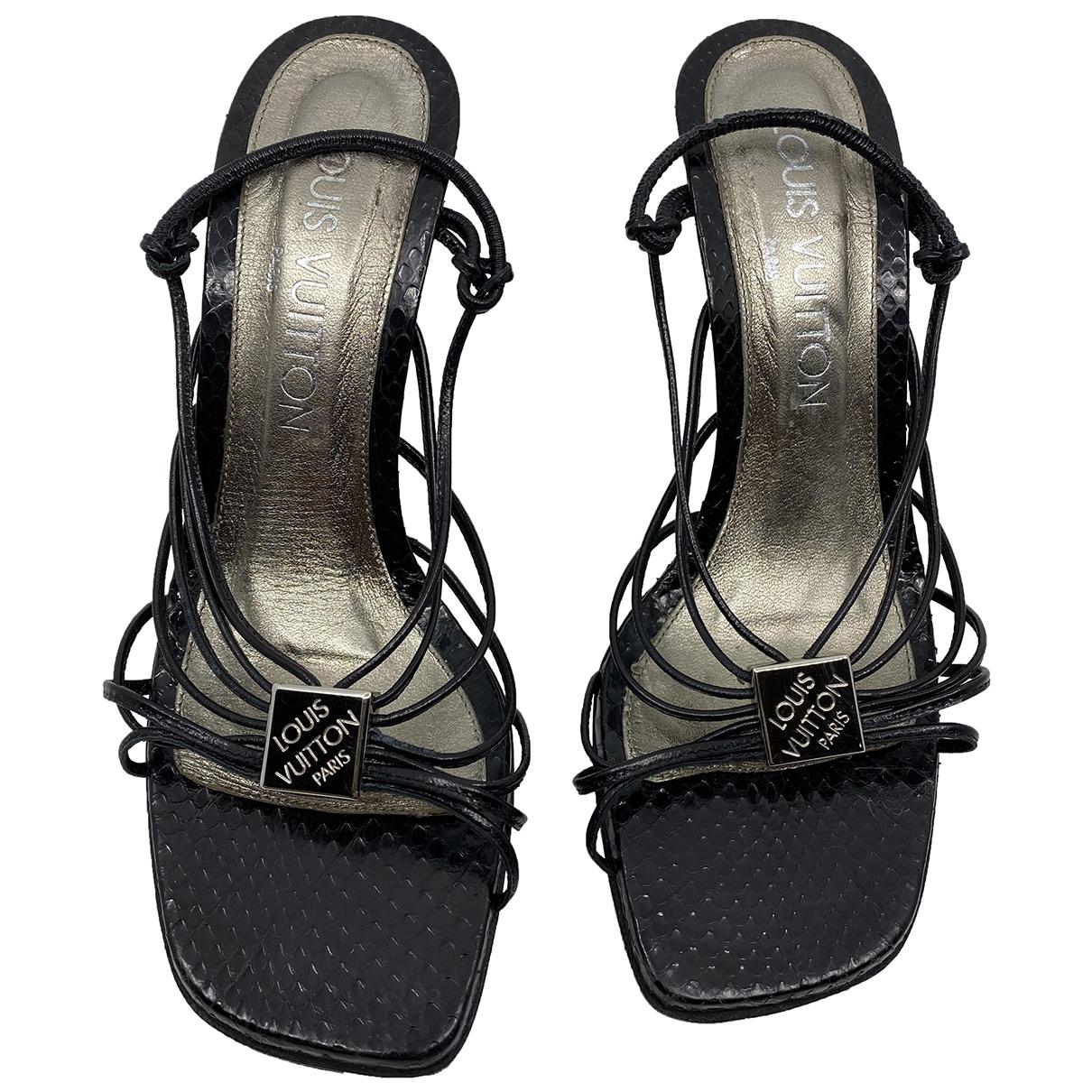 Louis Vuitton - Sandales   pour femme en python - noir