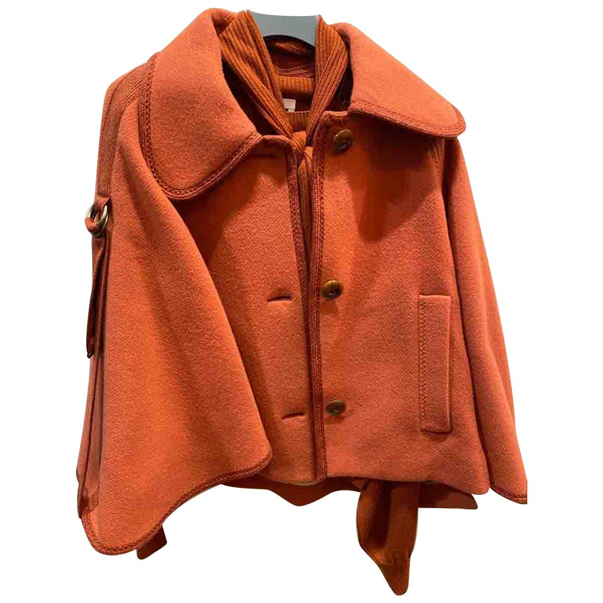 Chloe - Veste   pour femme en laine - orange