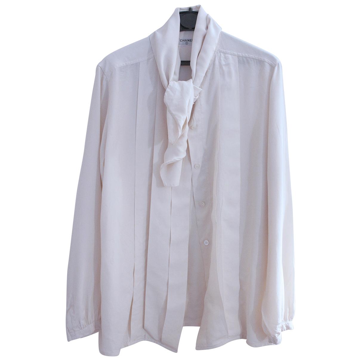 Chanel \N Beige Silk  top for Women 36 FR