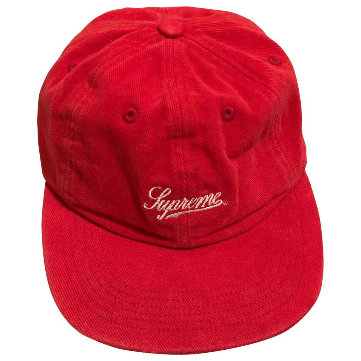 Supreme \N Red Cotton hat & pull on hat for Men M International