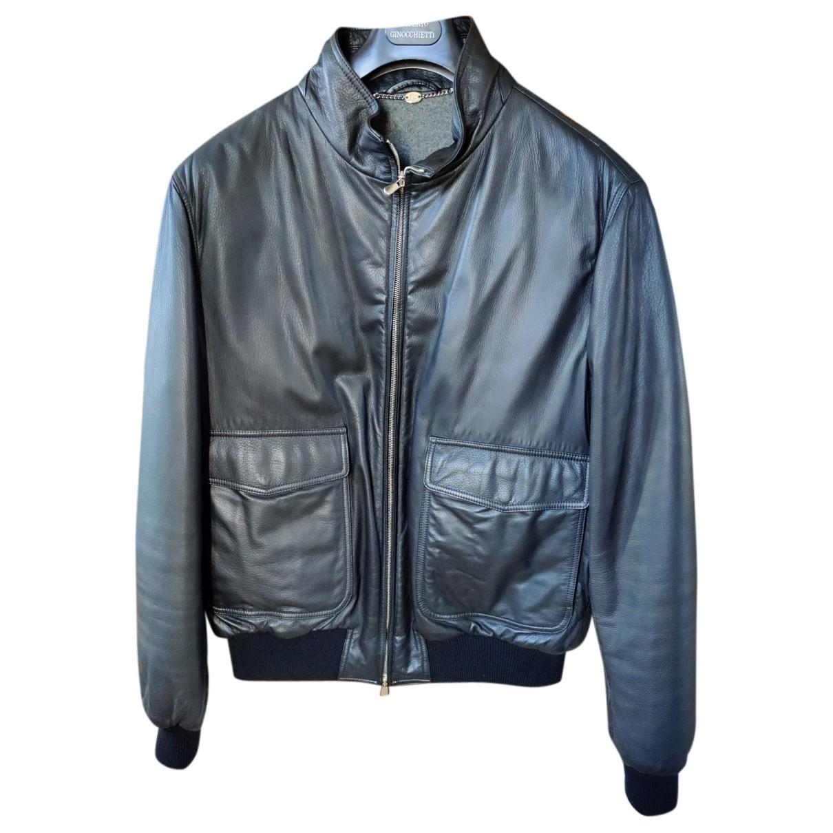 Loro Piana N Black Leather jacket  for Men 54 IT