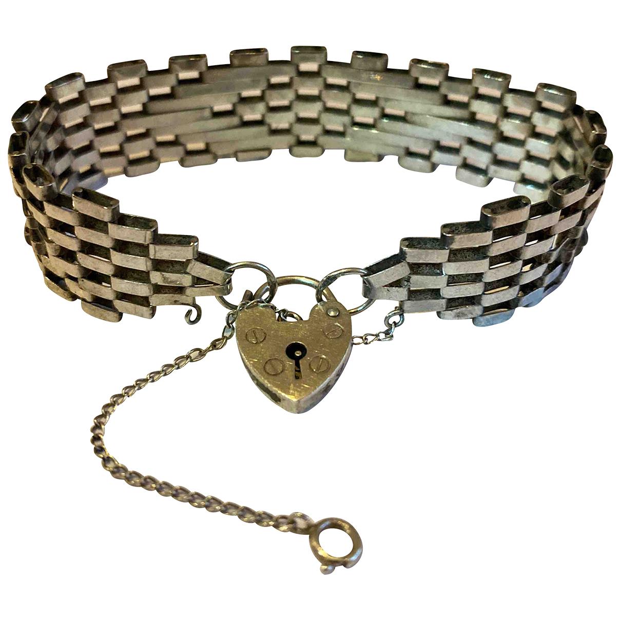 - Bracelet Motifs Coeurs pour femme en argent - argente