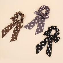 3 Stuecke Schal mit Punkten Muster
