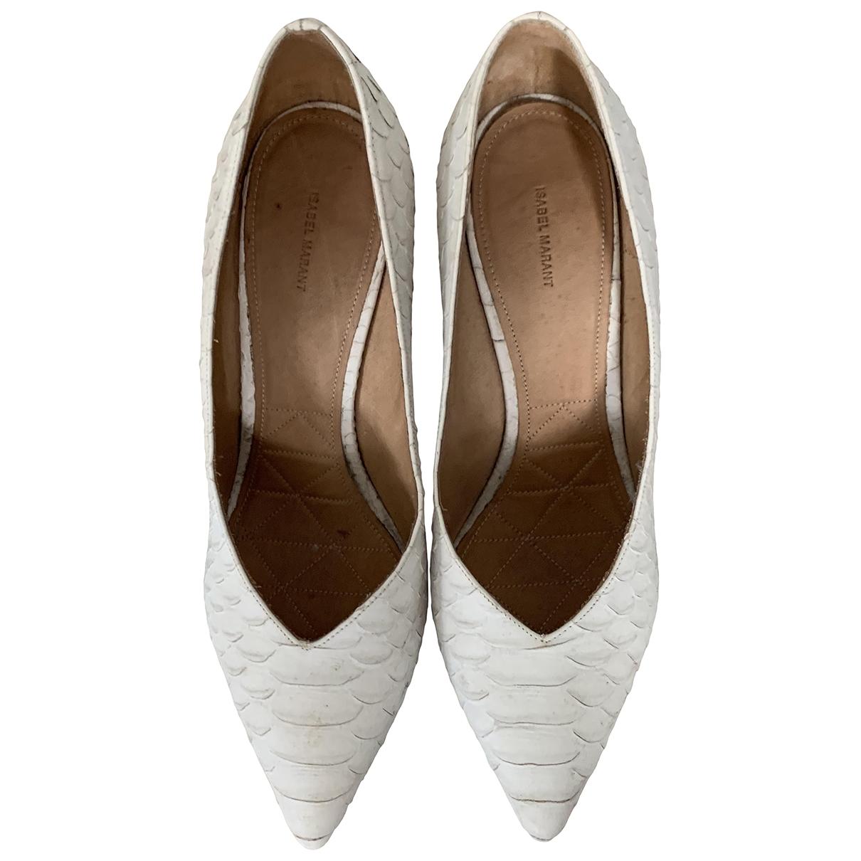 Isabel Marant - Escarpins   pour femme en cuir - blanc