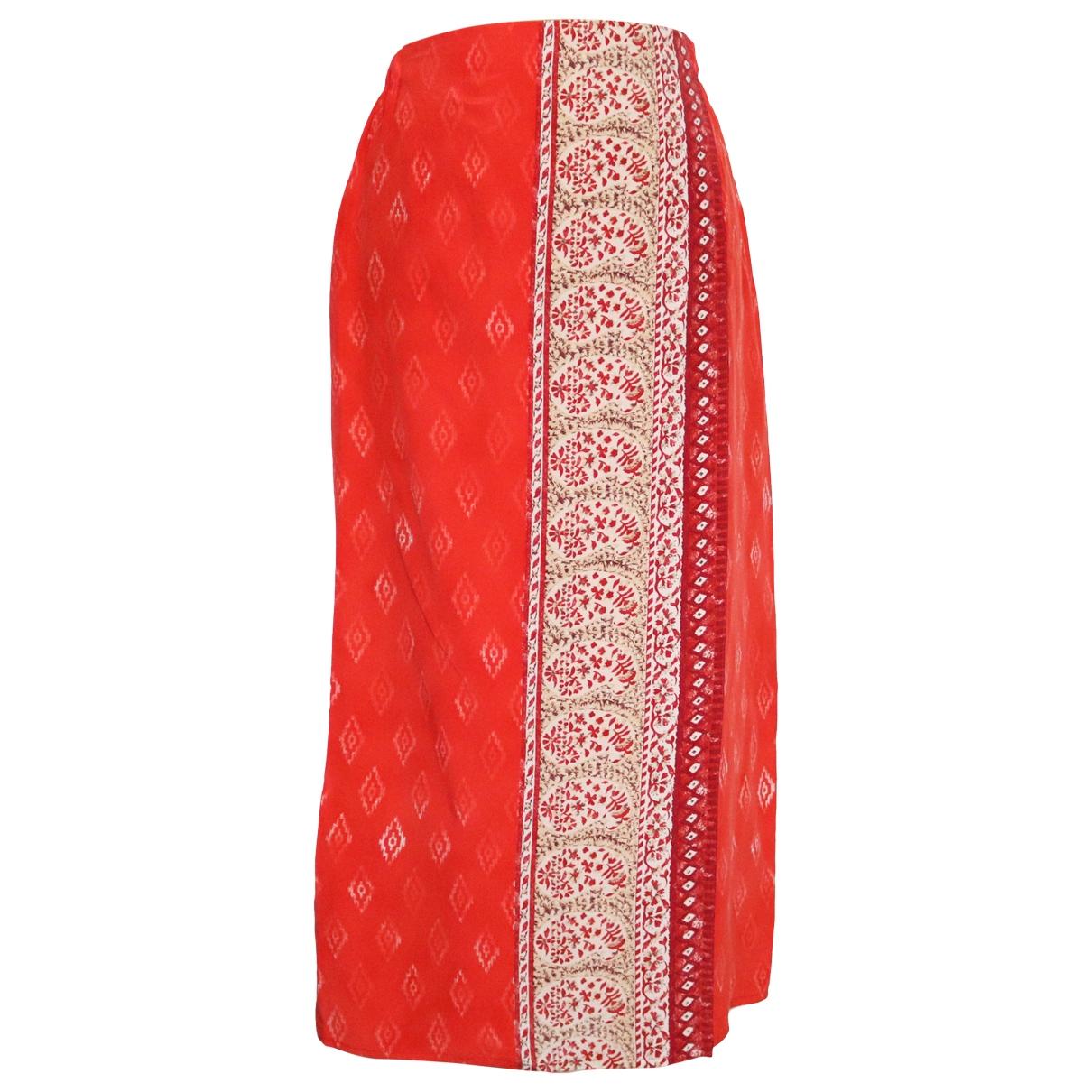 Etro - Jupe   pour femme en soie - rouge