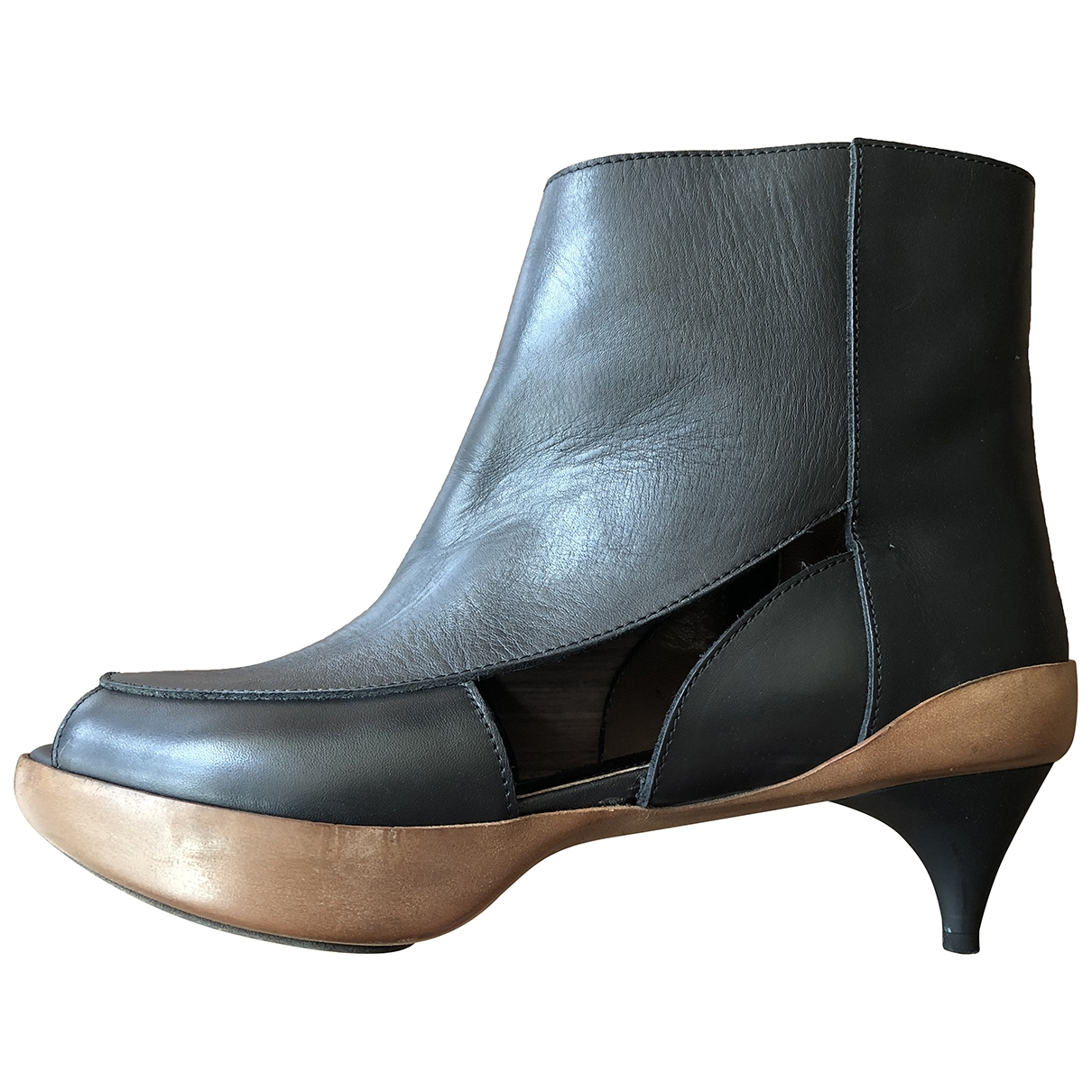 Marni \N Black Leather Ankle boots for Women 36 IT