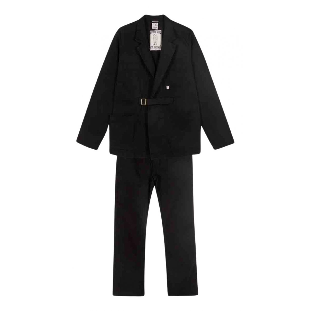 - Costumes   pour homme en coton - noir