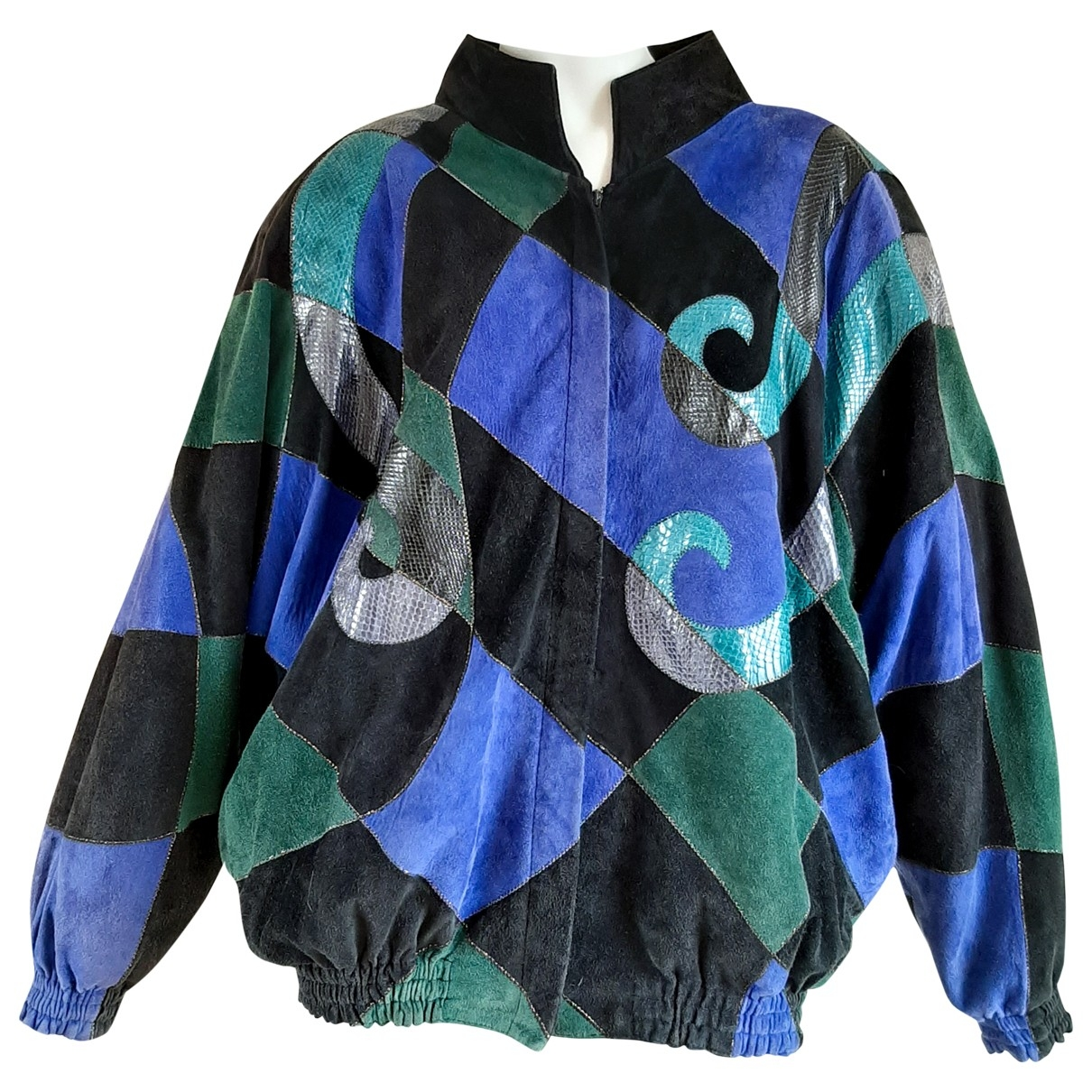 Non Signé / Unsigned \N Blue Lizard jacket for Women 42 FR