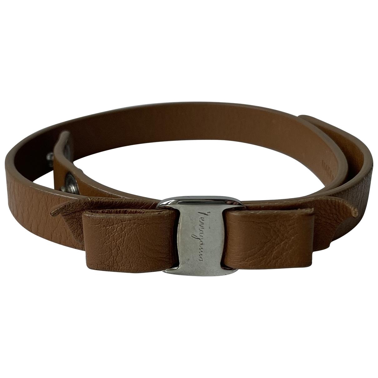 Salvatore Ferragamo \N Armband in  Braun Leder