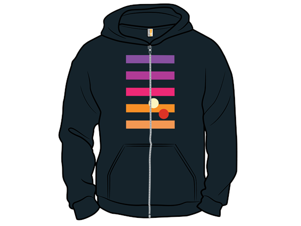 Double Sunset Zip Hoodie