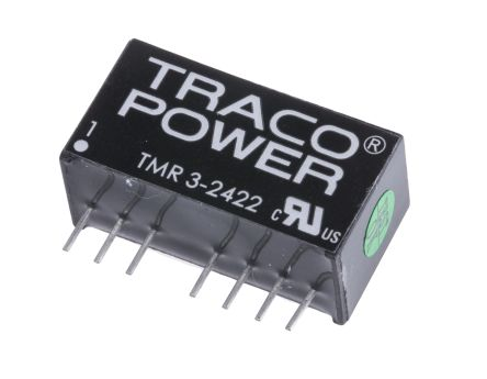 TRACOPOWER TMR 3 3W Isolated DC-DC Converter Through Hole, Voltage in 18 → 36 V dc, Voltage out ±12V dc