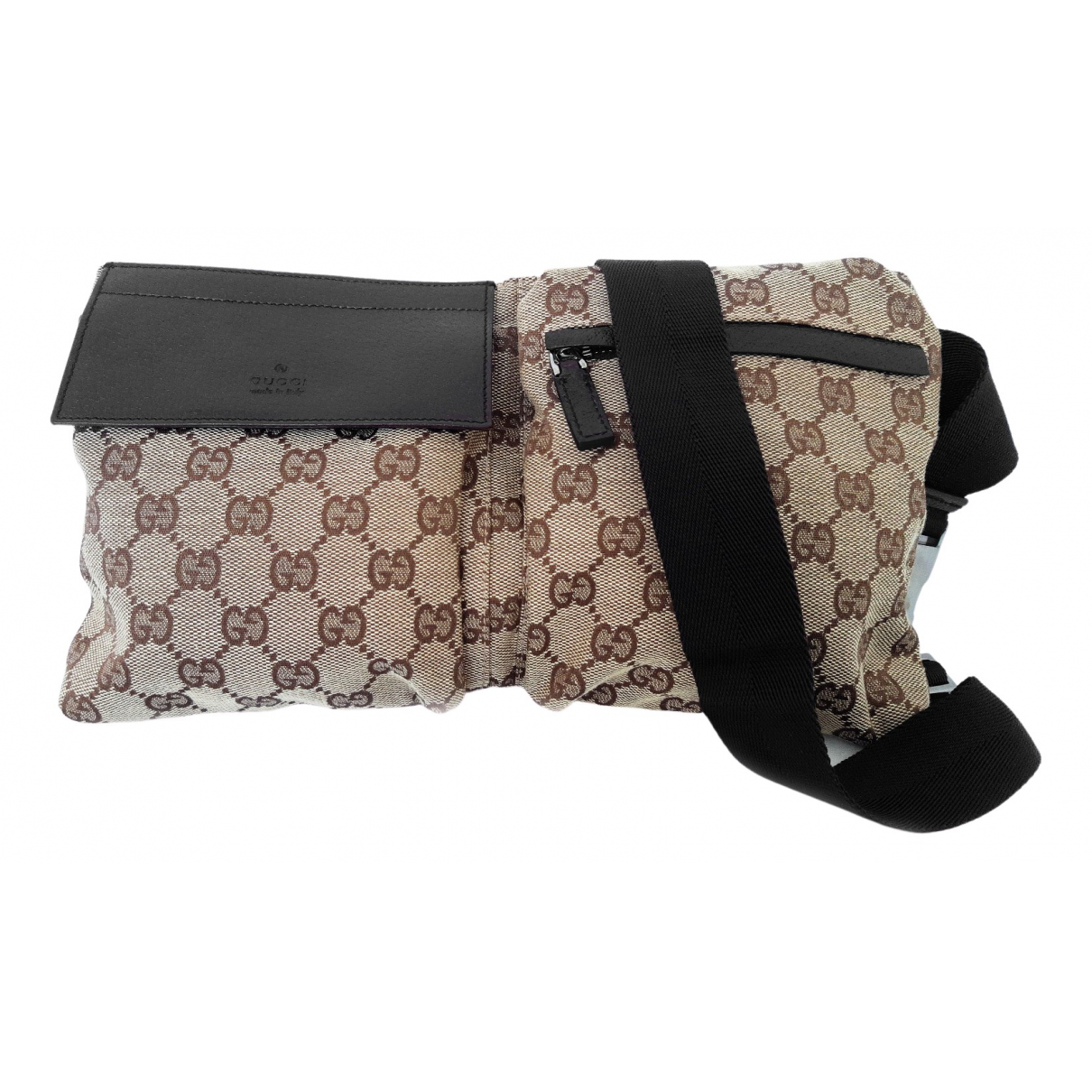 Gucci \N Beige Cloth Small bag, wallet & cases for Men \N