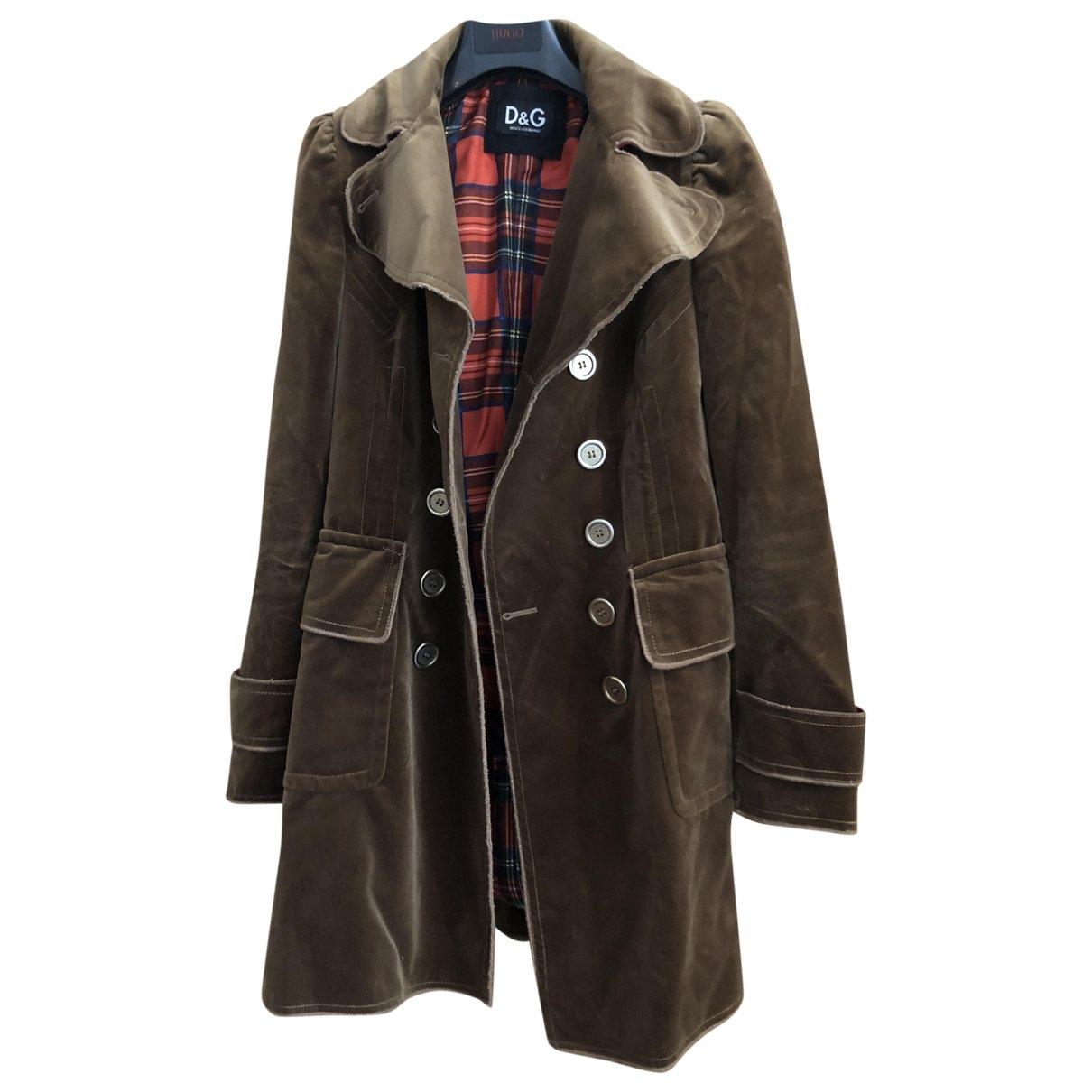 D&g - Manteau   pour femme en velours - marron