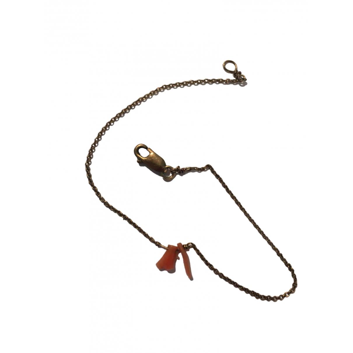 Non Signe / Unsigned \N Armband in  Metallic Vergoldet