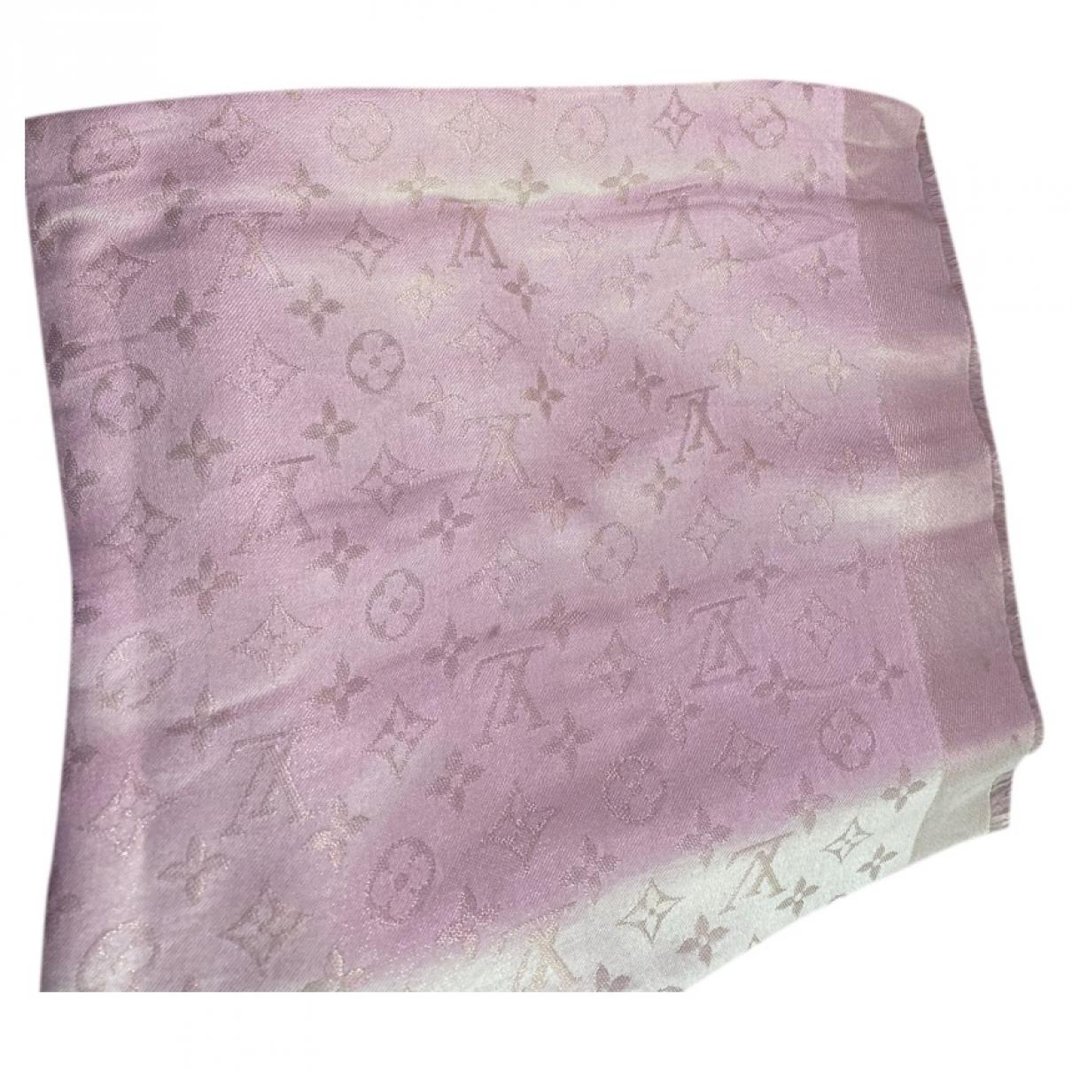 Louis Vuitton Chale Monogram shine Schal in  Beige Seide