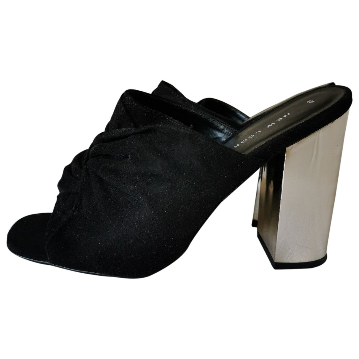 Non Signé / Unsigned \N Black Suede Sandals for Women 39 EU