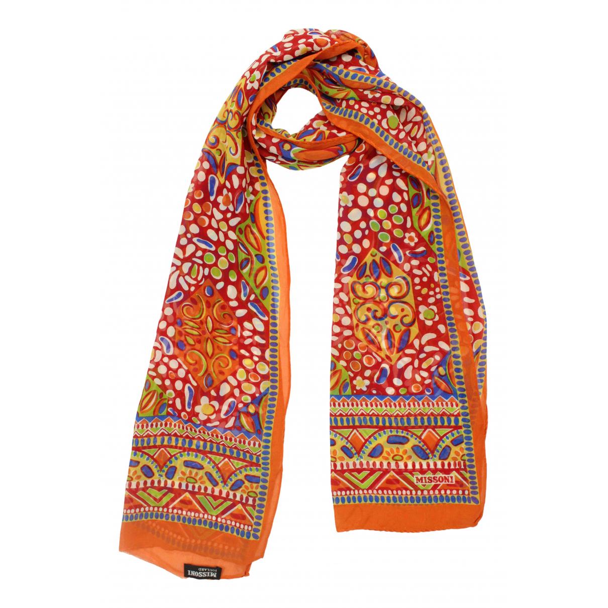 Missoni \N Schal in  Orange Seide