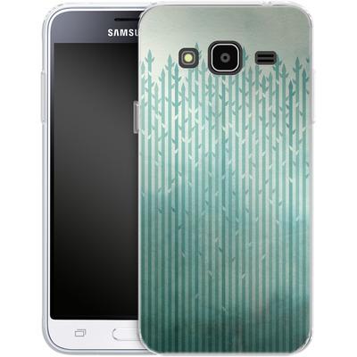 Samsung Galaxy J3 (2016) Silikon Handyhuelle - Misty Morning von Little Clyde
