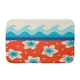 Surf, Sand, & Sea Surf, Sand, & Sea Bath Mat (Orange - 21 x 34)