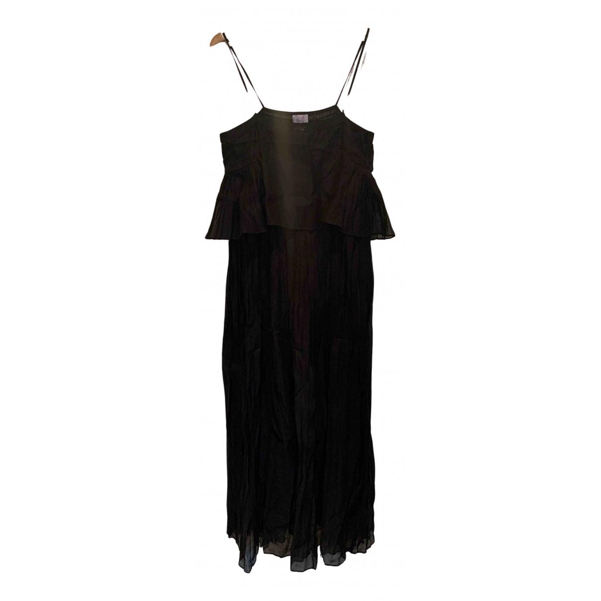 Thierry Colson - Robe   pour femme en lin - noir