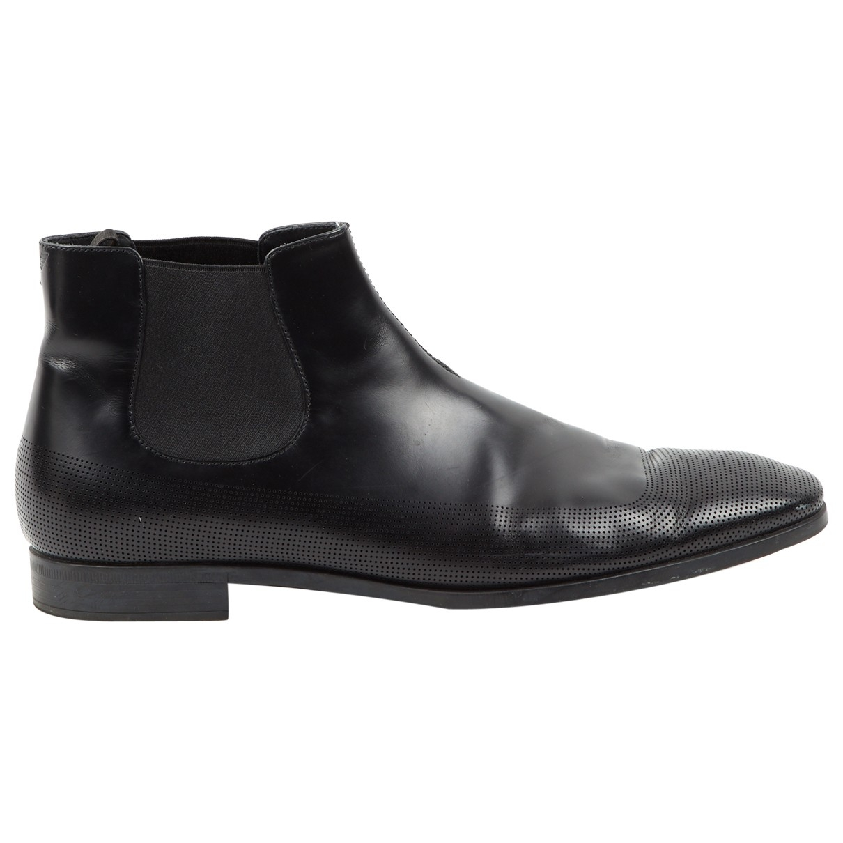 Emporio Armani \N Black Leather Boots for Men 10 UK