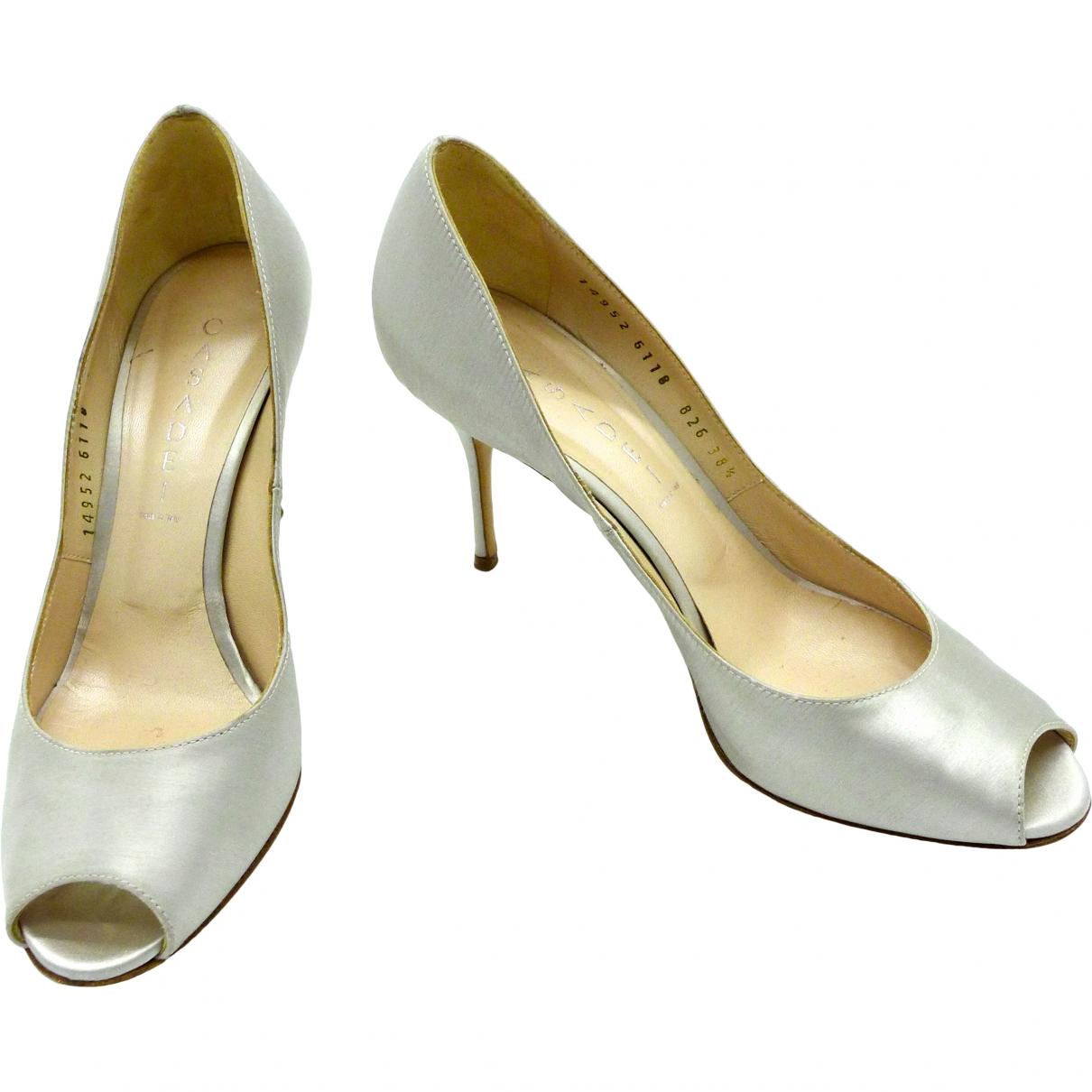 Casadei \N Silver Velvet Heels for Women 8.5 US