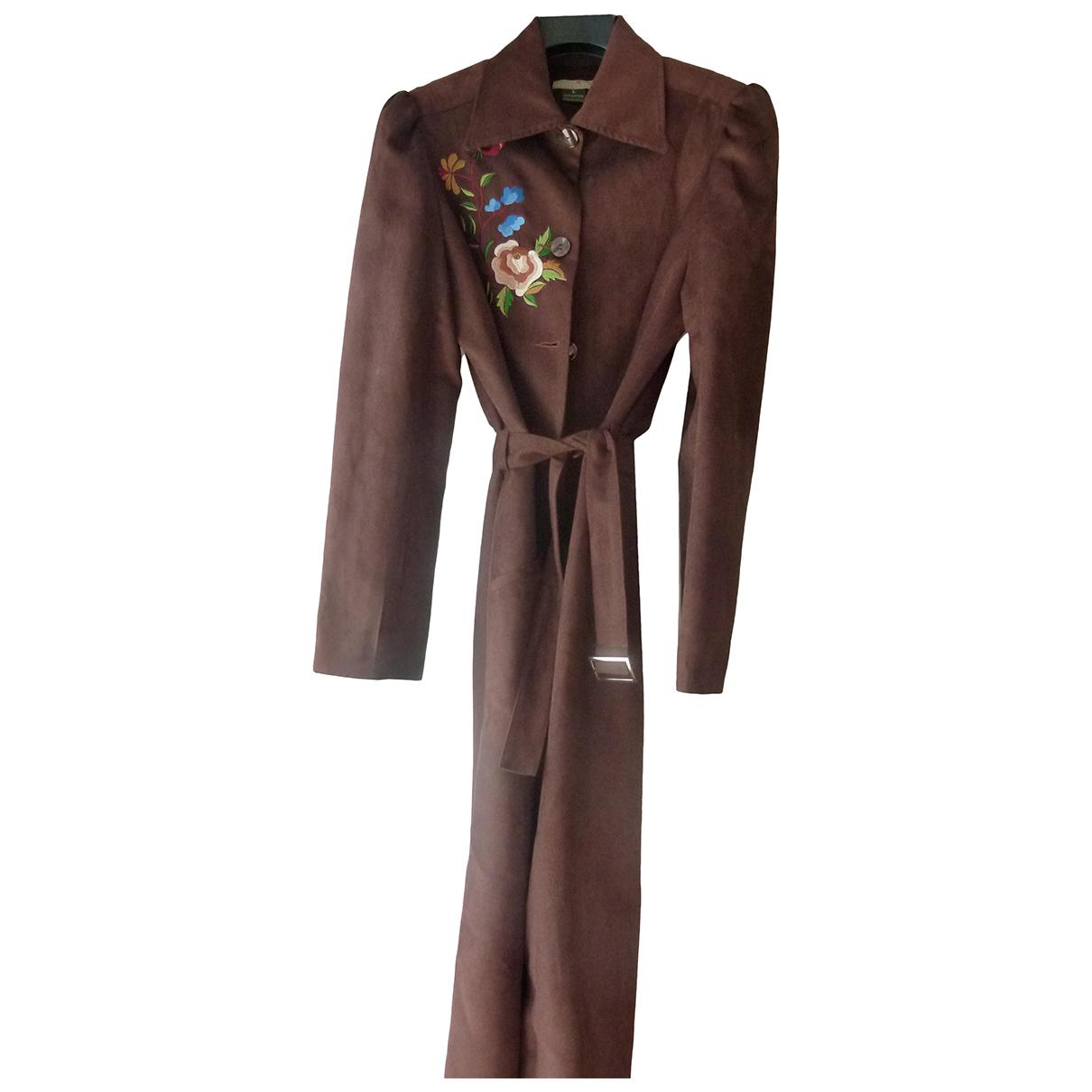 Autre Marque N Brown Suede coat for Women 40 FR
