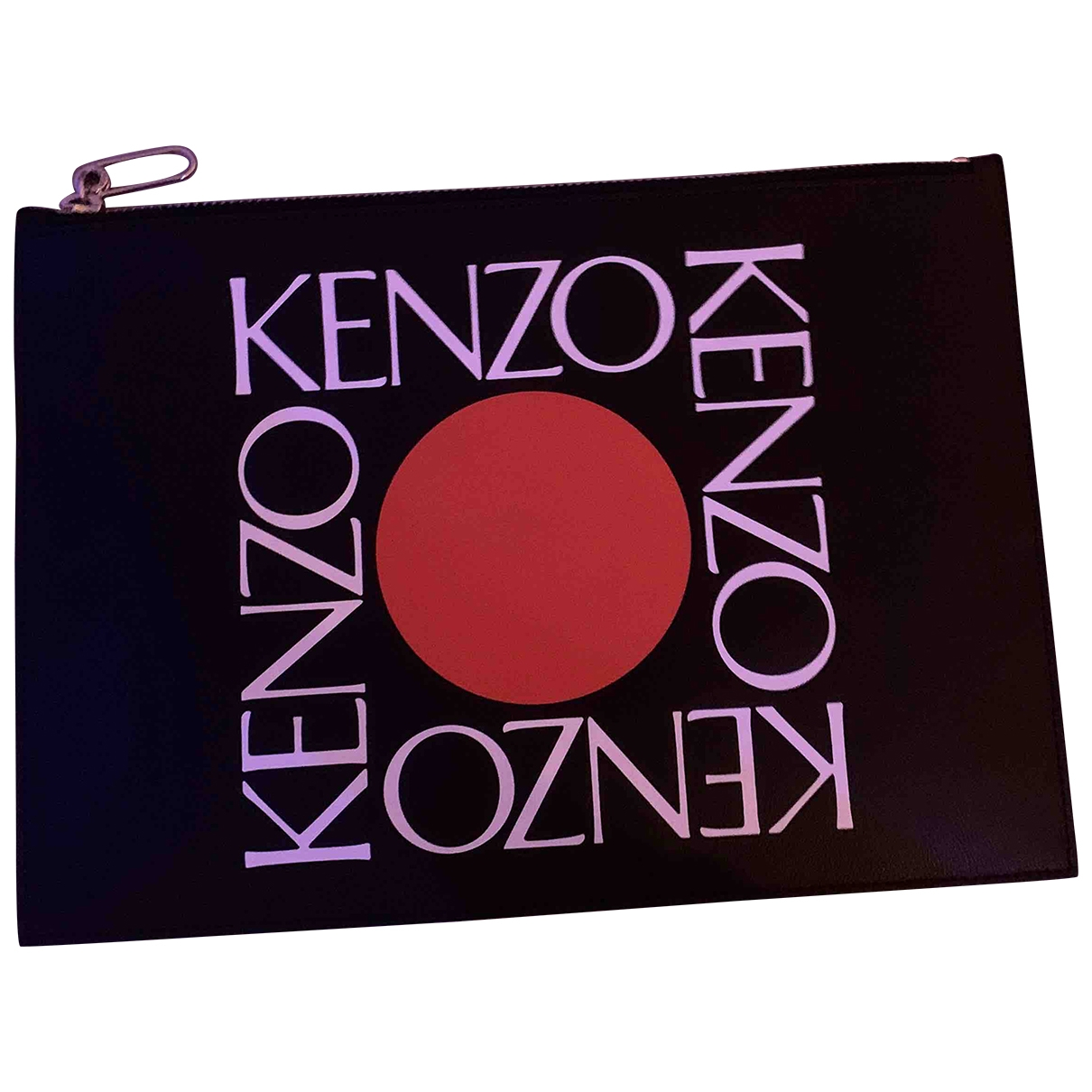 Kenzo \N Black Leather Small bag, wallet & cases for Men \N
