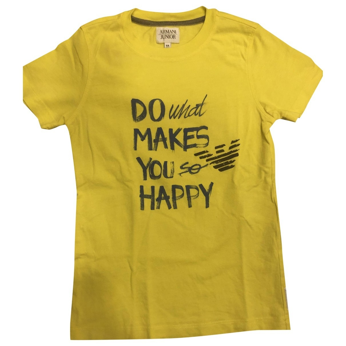 Armani Baby - Top   pour enfant en coton - jaune