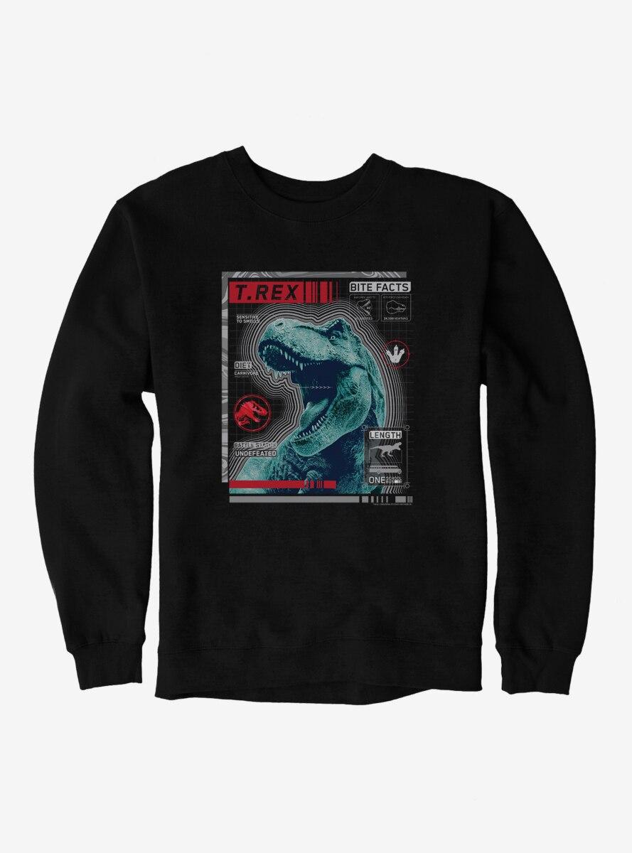 Jurassic World T.Rex Bite Facts Sweatshirt