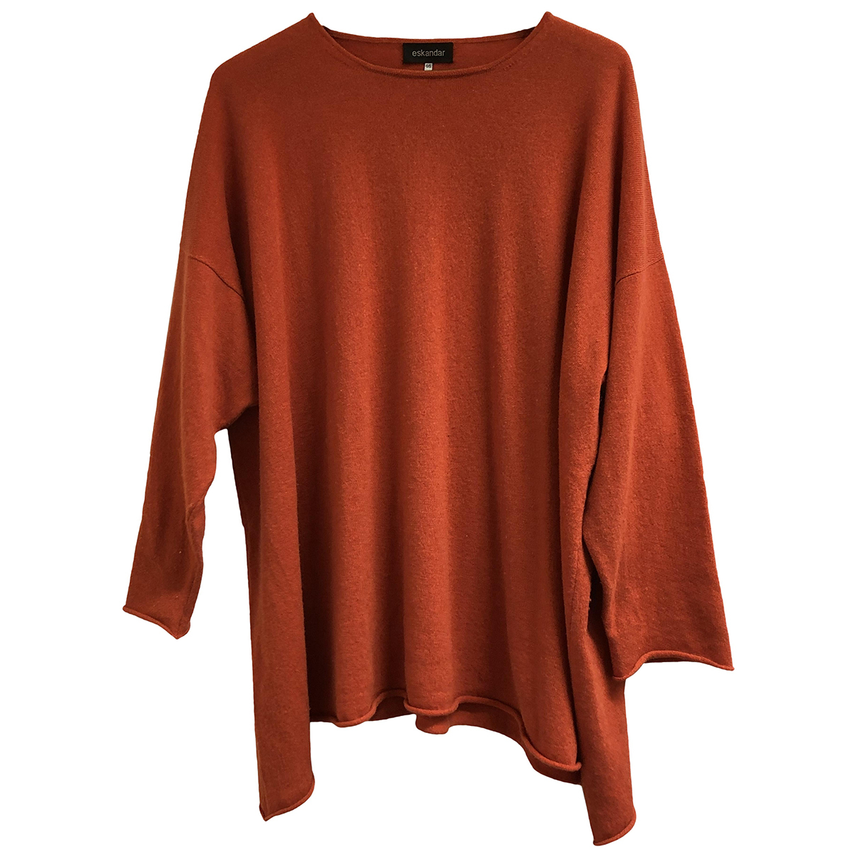Eskandar - Pull   pour femme en cachemire - orange