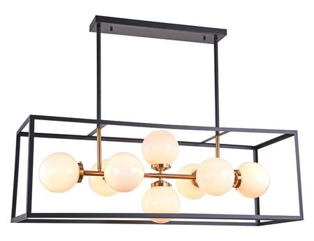 DU160C42G Ceiling Fixture with 120 Volt  E26 Bulb Type  Metal and Glass Material in Black