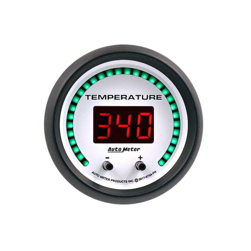 AutoMeter GAUGE; FLUID TEMPERATURE; 2 1/16in.; 2 CHAN; SELECTABLE; PHANTOM ELITE DIGITAL