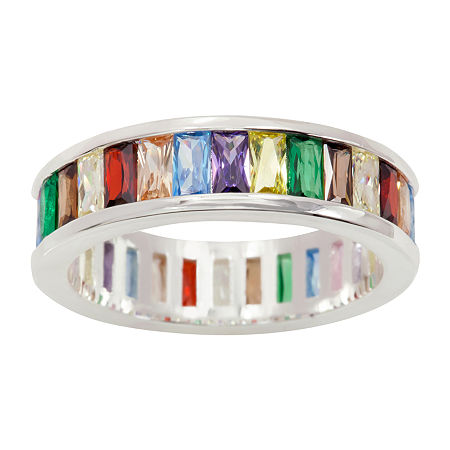 Sparkle Allure Cubic Zirconia Pure Silver Over Brass Cocktail Ring, 8 , No Color Family